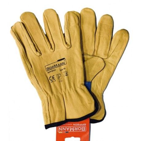 Γάντια δερμάτινα κίτρινα LUX BORMANN